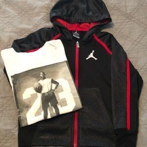 Other - Jordan Therma-Fit Sweatshirt with Jordan T-Shirt